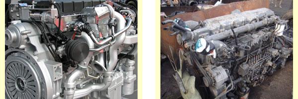 Новый и старый двигатели грузового автомобиля