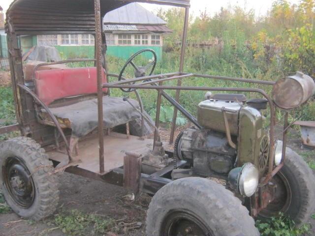 Трактор с двигателем от уд-2