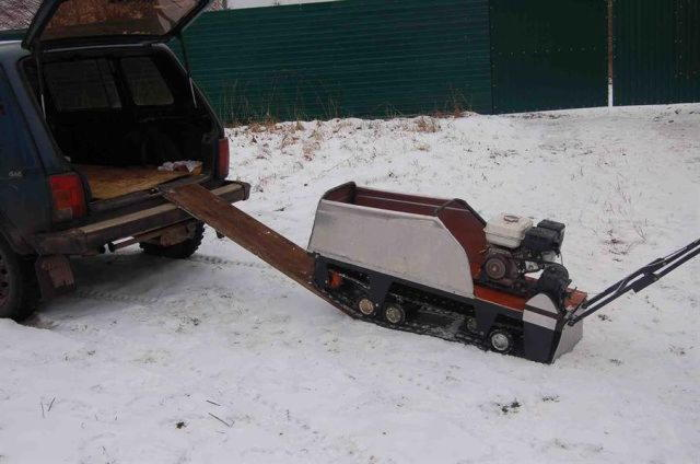 Как сделать из мотоблока снегоход своими руками фото 96