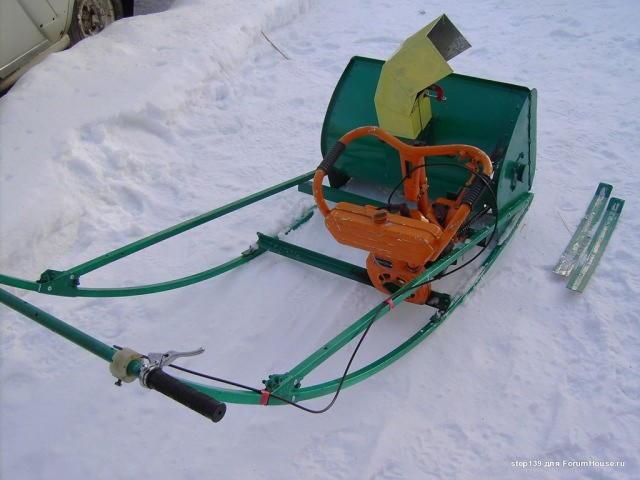 Как из бензопилы сделать снегоуборщик своими руками фото 223