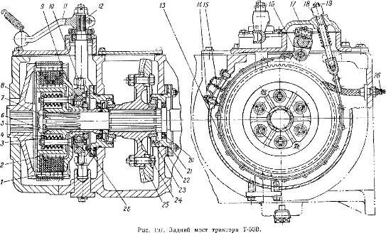 Центральная передача трактора Т-50В