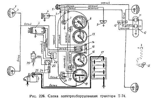 схема проводки т25