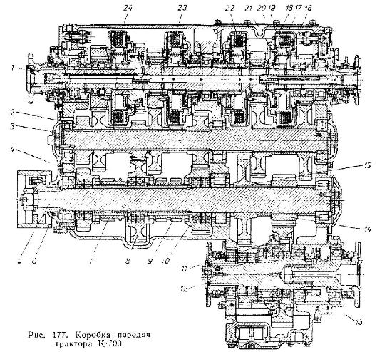 Коробка передач трактора К-700