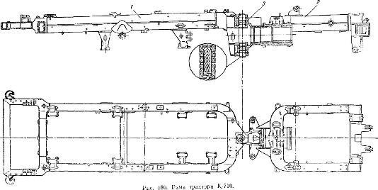 Рама трактора К-700