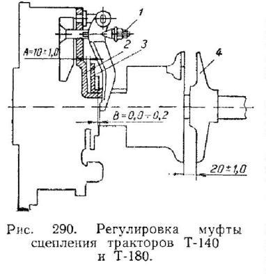Регулировка муфты сцепления тракторов Т-140 и Т-180