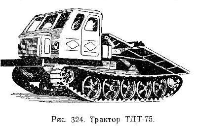 Трелевочный трактор ТДТ-75