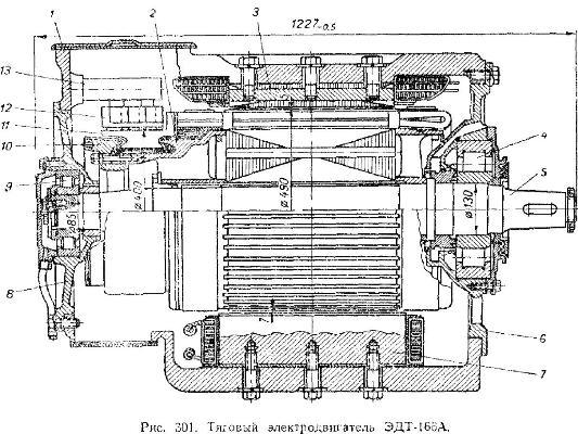 Тяговый электродвигатель ЭДТ-166А трактора ДЭТ-250