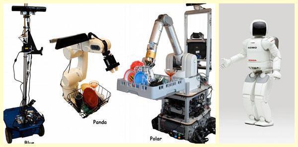 Промышленные роботы и человекоподобный робот