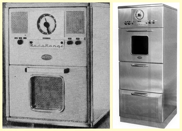 Первые модели СВЧ-печек компании американской Рейтеон