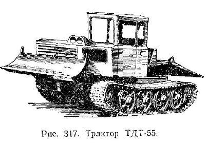 Гусеничный трелевочный трактор ТДТ-55