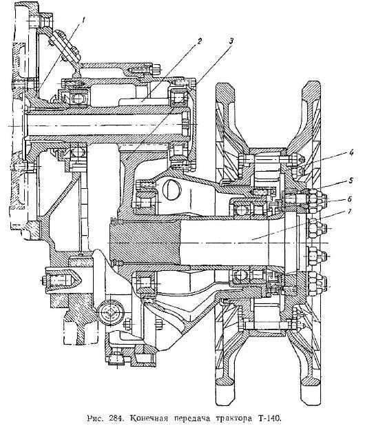 Конечная передача Трактора Т-140