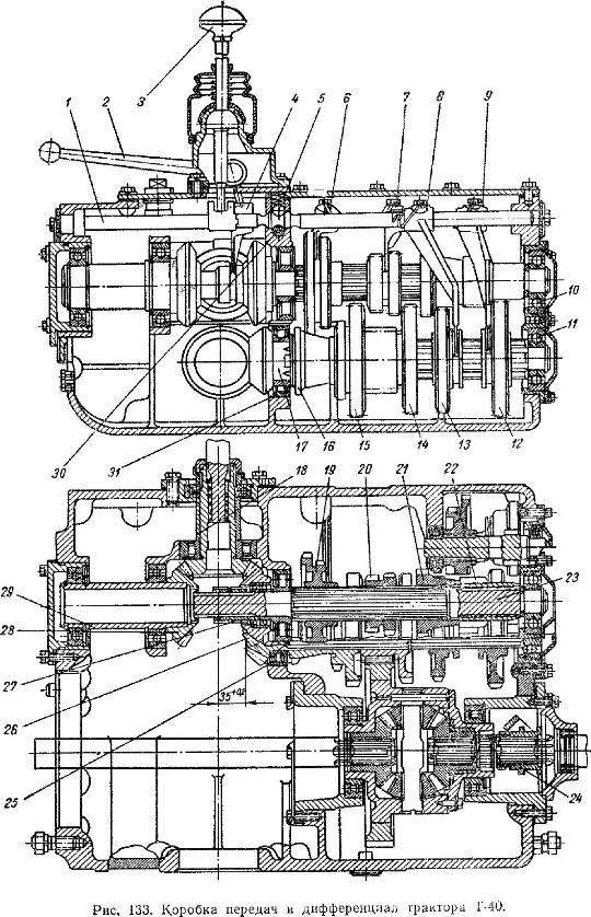 Коробка передач трактора Т-40