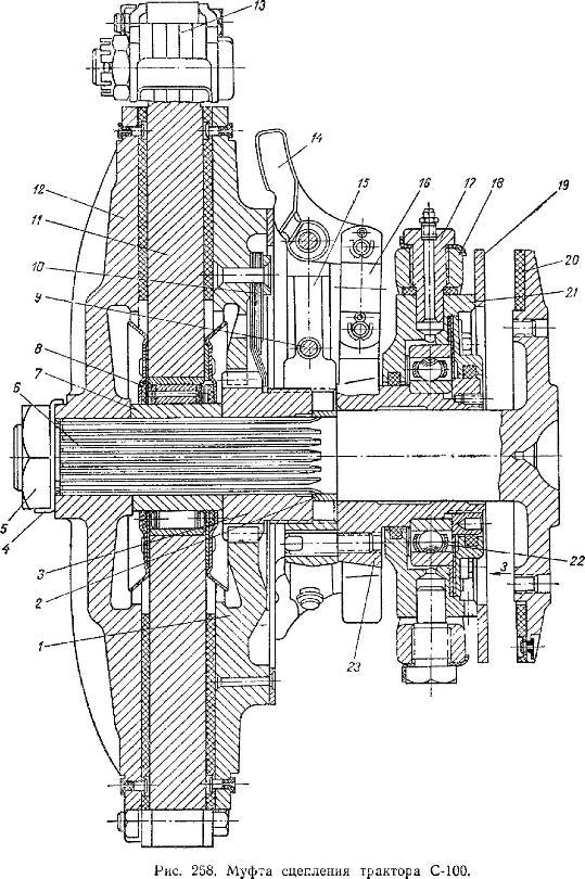 Муфта сцепления ТРАКТОРА С-100