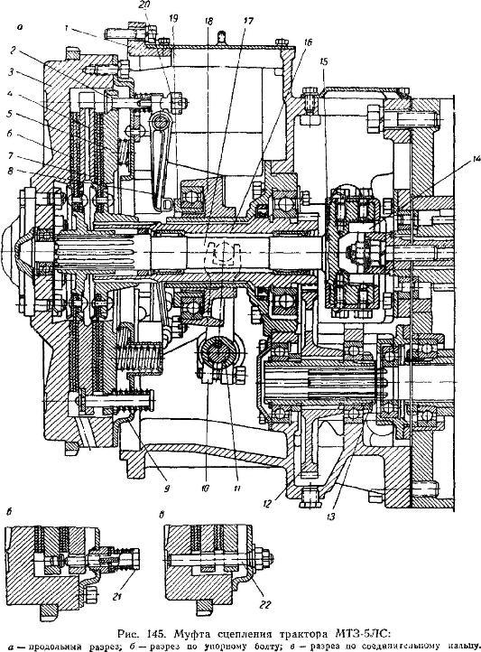Муфта сцепления трактора МТЗ-5ЛС