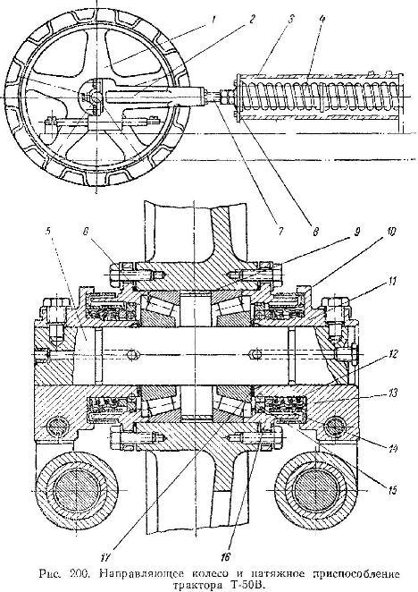 Направляющее колесо трактора Т-50В