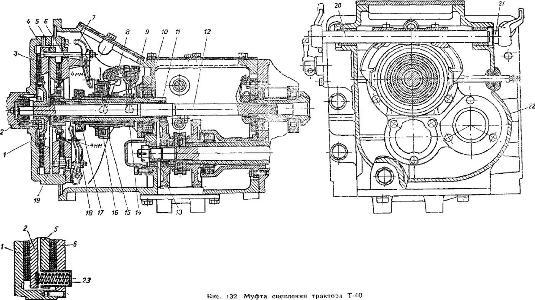 муфта сцепления трактора Т-40